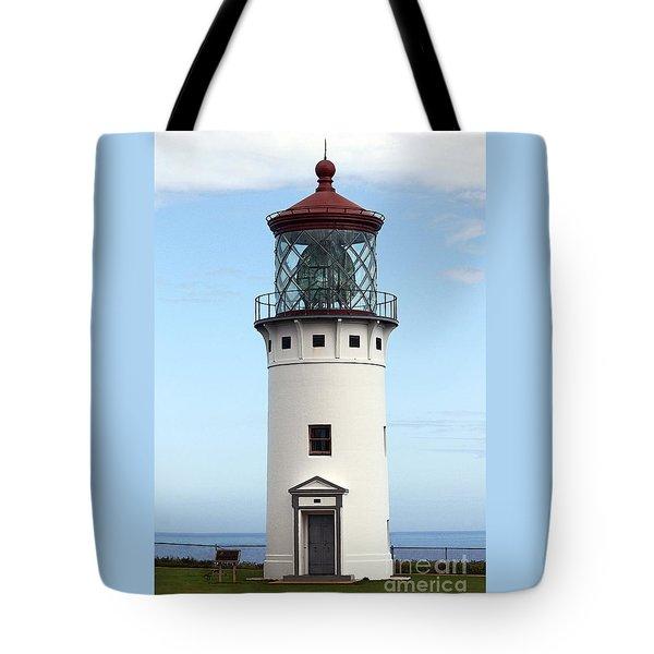 Kilauea Lighthouse On Kauai Tote Bag by Catherine Sherman
