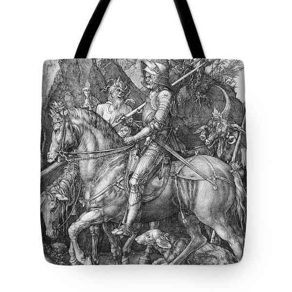 Knight Death And The Devil Tote Bag