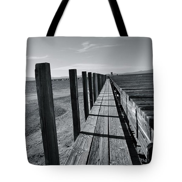 Boardwalk To The Lake Tote Bag