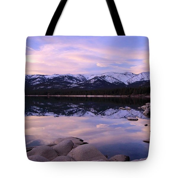 Lake Tahoe Rocks  Tote Bag