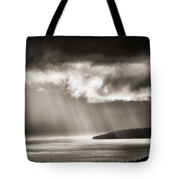 Lake Tahoe Storm Tote Bag