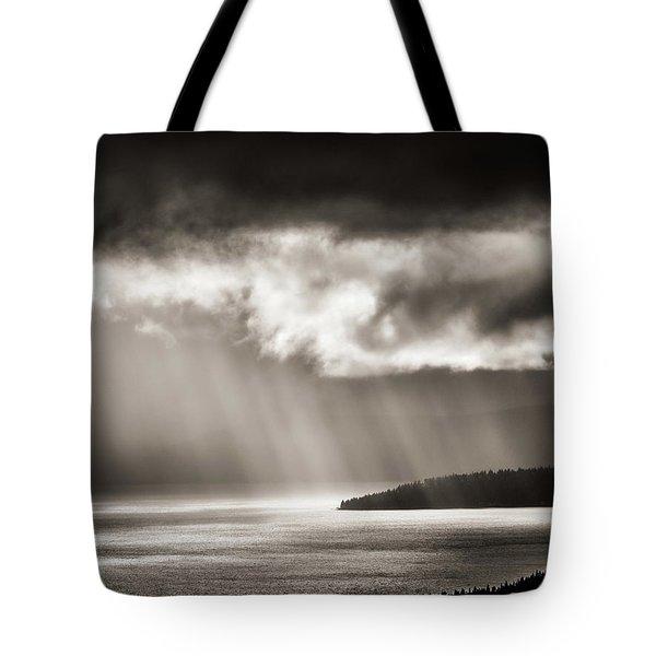 Lake Tahoe Storm Tote Bag