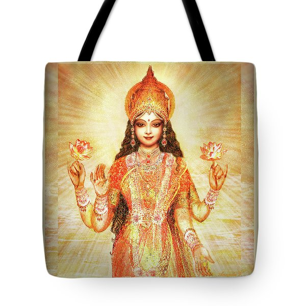 Lakshmi The Goddess Of Fortune And Abundance Tote Bag