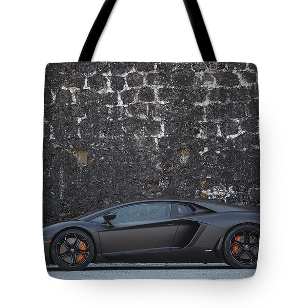 Tote Bag featuring the photograph #lamborghini #aventador  by ItzKirb Photography