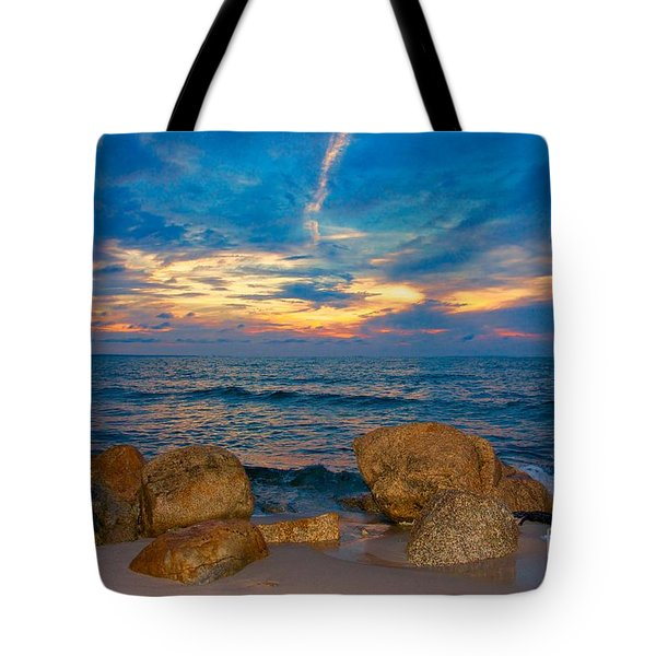 Tote Bag featuring the photograph Last Light by Amazing Jules