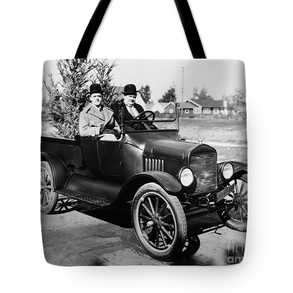 Laurel And Hardy Tote Bag by Granger