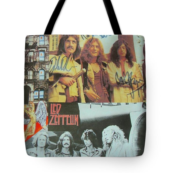 Led Zeppelin Art Tote Bag