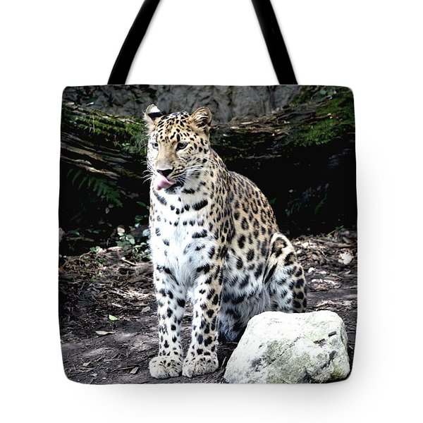 Leopard Tote Bag by Janice Spivey