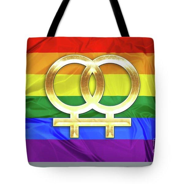 Lesbian Symbols Tote Bag