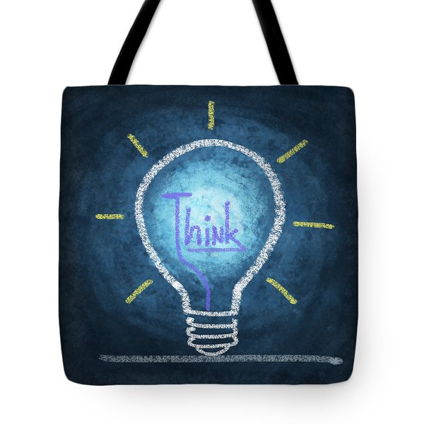 Light Bulb Design Tote Bag