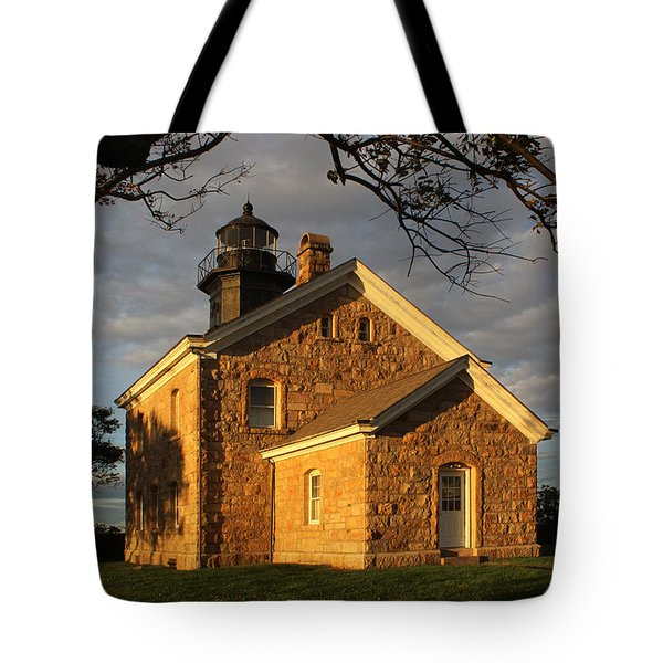 Lighthouse Old Field Point New York Tote Bag