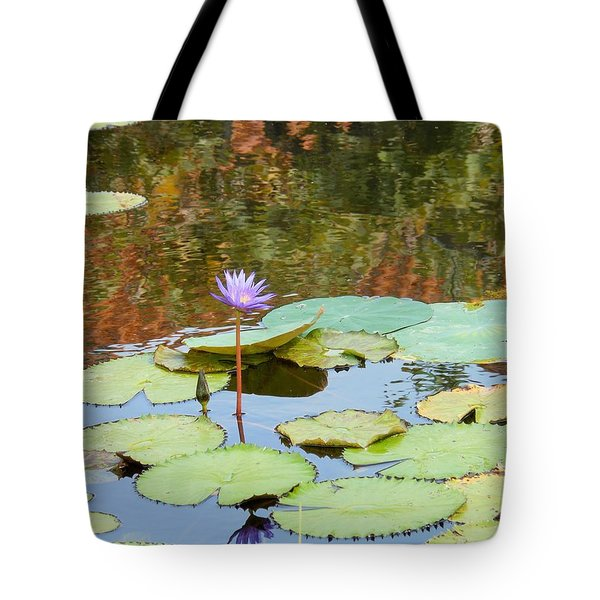 Tote Bag featuring the photograph Lily Pond by Kay Gilley