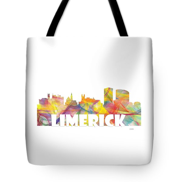 Limerick Ireland Skyline Tote Bag