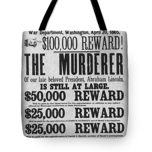 Lincoln Assassination Tote Bag by Granger