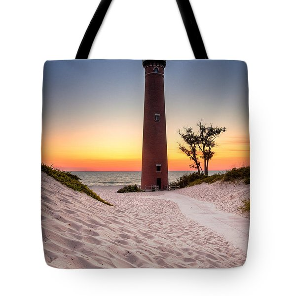 Little Sable Point Light Station Tote Bag