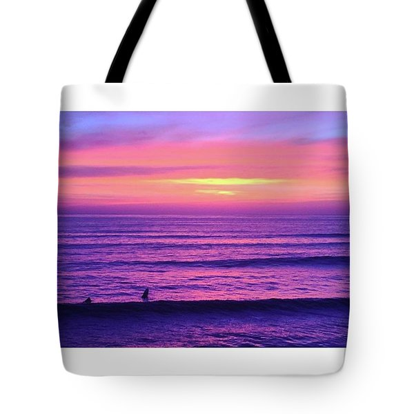 Living The Sunset Tote Bag