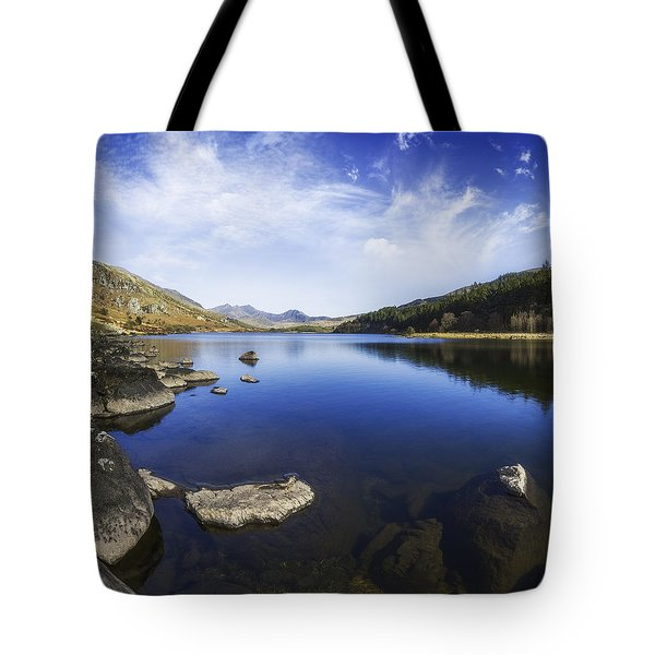 Llynnau Mymbyr Tote Bag by Ian Mitchell