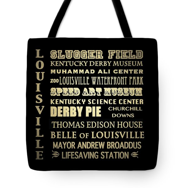 Louisville Famous Landmarks Tote Bag