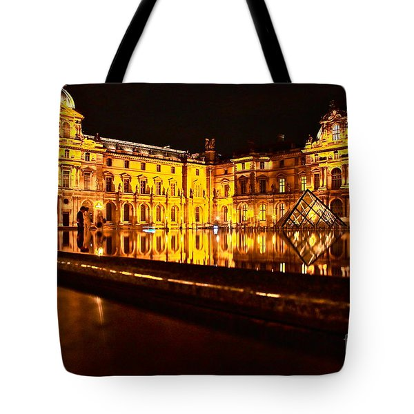 Tote Bag featuring the photograph Louvre Pyramid by Danica Radman
