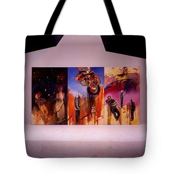 Tote Bag featuring the painting Love Hurts by Charles Stuart