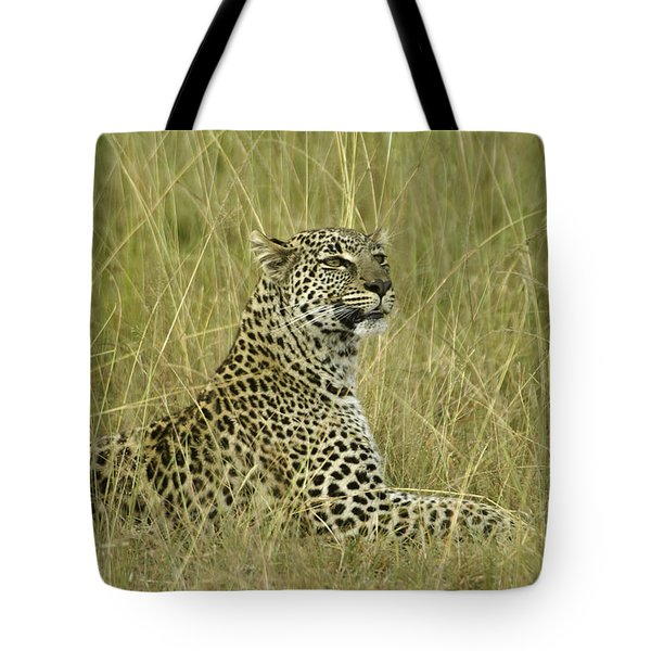 Lovely Leopard Tote Bag by Michele Burgess