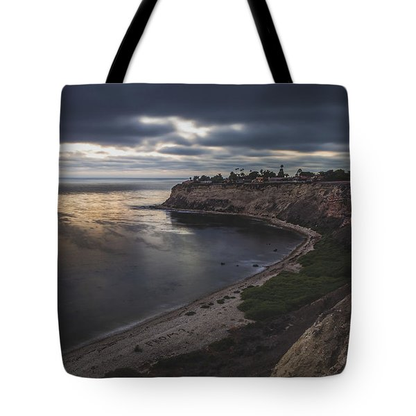 Tote Bag featuring the photograph Lunada Bay After Sunset by Andy Konieczny