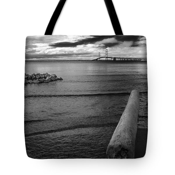 Mackinac Bridge - Infrared 01 Tote Bag