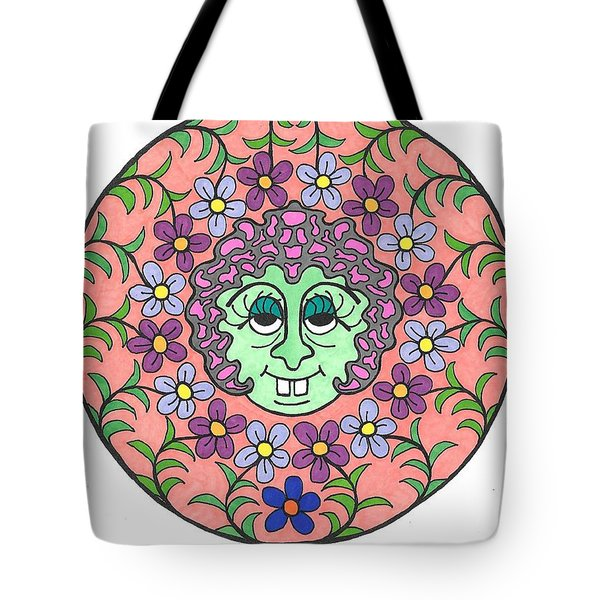 Goofy Green Witch Tote Bag