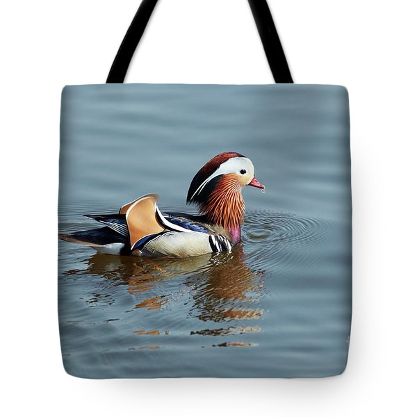 Tote Bag featuring the photograph Mandarin Duck by Michal Boubin