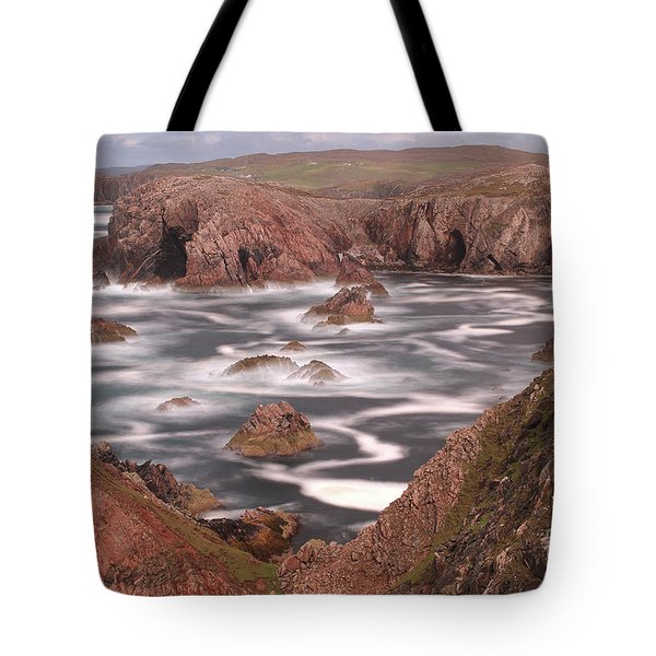Tote Bag featuring the photograph Mangersta Coastline by Maria Gaellman