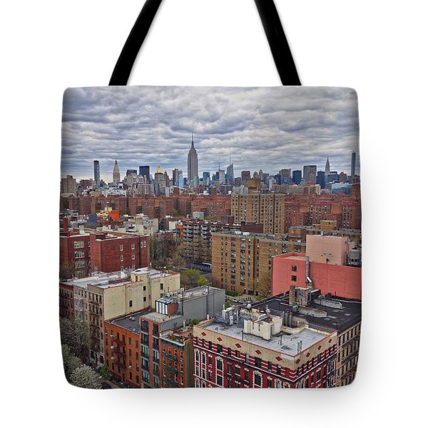 Manhattan Landscape Tote Bag by Joan Reese