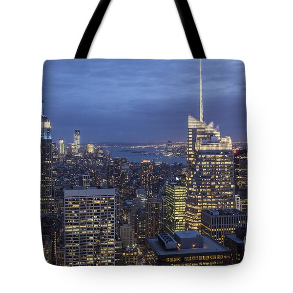Tote Bag featuring the photograph Manhattan Skyline New York by Juergen Held