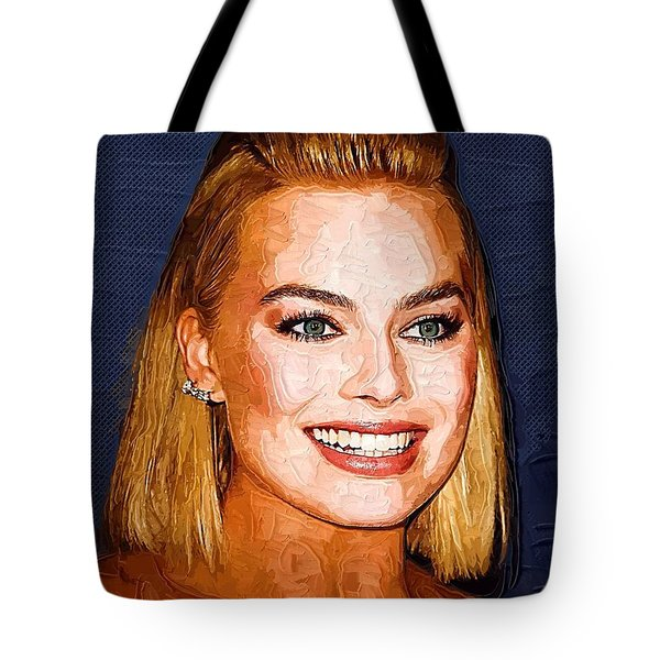 Margot Robbie Art Tote Bag by Best Actors