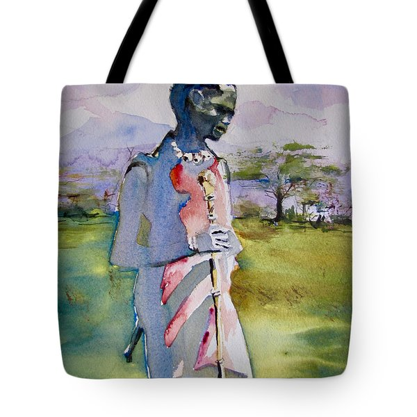 Masaai Boy Tote Bag