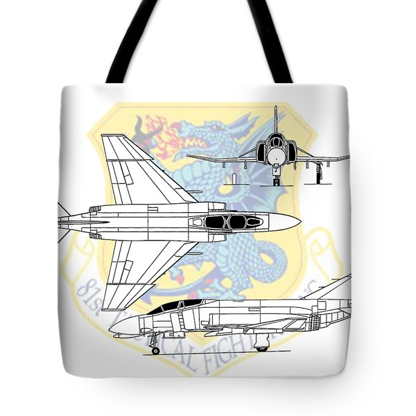 Tote Bag featuring the digital art Mcdonnell Douglas F-4d Phantom II by Arthur Eggers