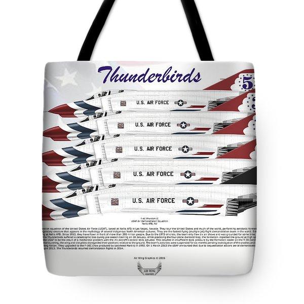 Mcdonnell Douglas F-4e Phantom II Thunderbirds Tote Bag by Arthur Eggers