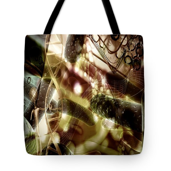 Tote Bag featuring the digital art Medils Art by Danica Radman