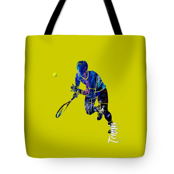 Mens Tennis Collection Tote Bag by Marvin Blaine