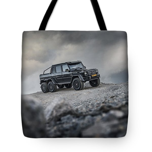 Mercedes G63 6x6 In Oman Tote Bag