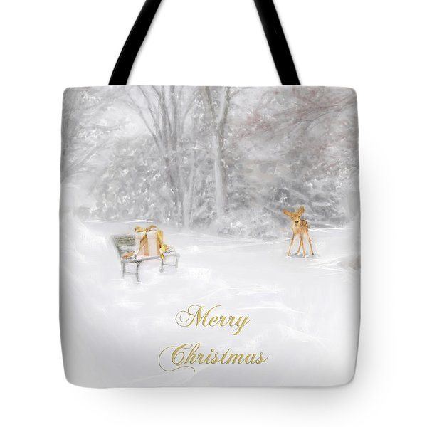 Tote Bag featuring the photograph Merry Christmas by Mary Timman