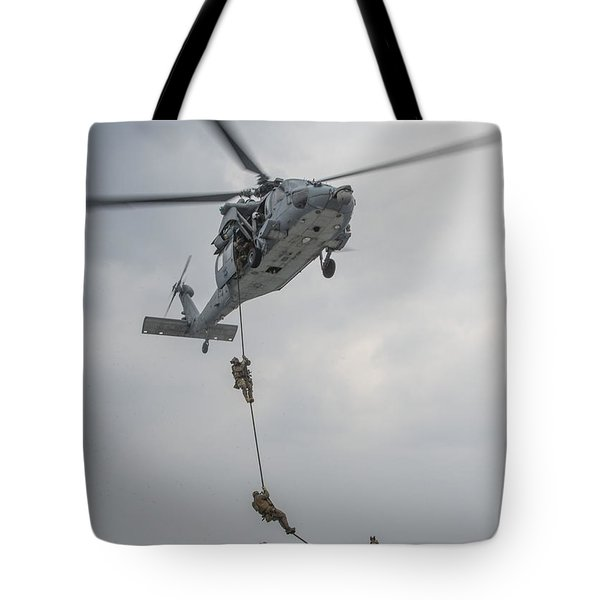 Mh-60s Sea Hawk Helicopter Us Navy Tote Bag