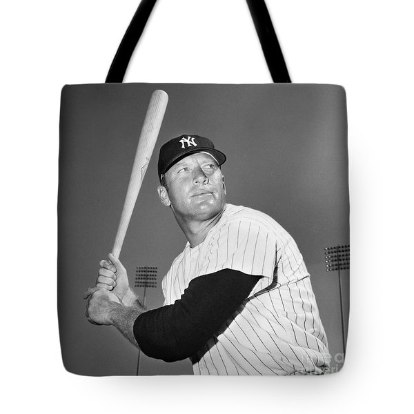 Mickey Mantle (1931-1995) Tote Bag by Granger