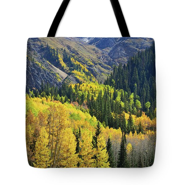 Tote Bag featuring the photograph Million Dollar Highway  by Ray Mathis