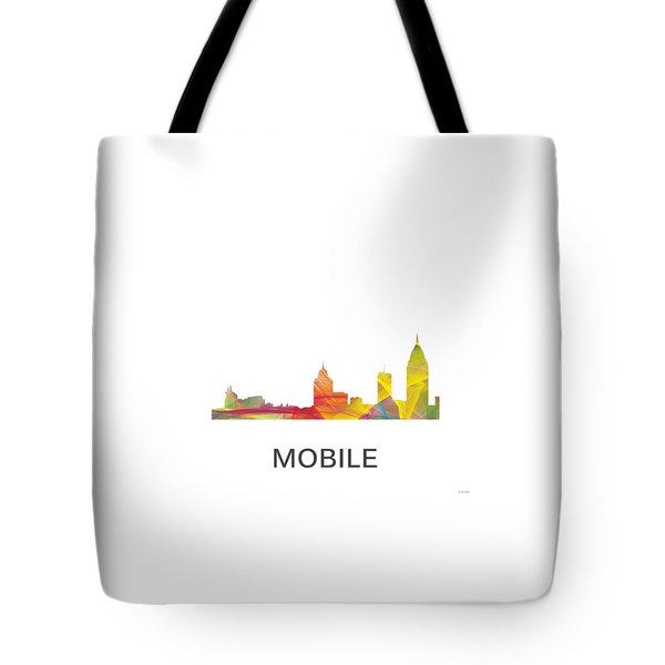 Mobile Alabama Skyline Tote Bag