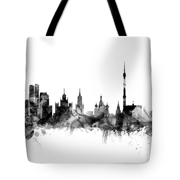 Moscow Russia Skyline Tote Bag