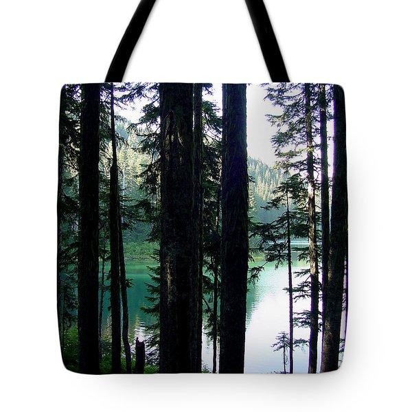 Mountain Lake Tote Bag