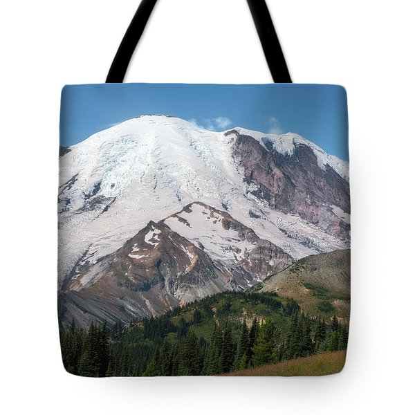 Tote Bag featuring the photograph Mt Rainier From Sunrise by Sharon Seaward