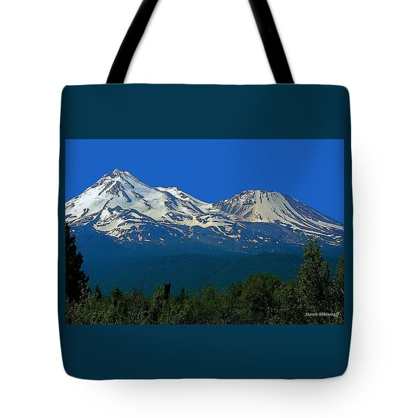 Mt. Shasta Tote Bag by Steve Warnstaff