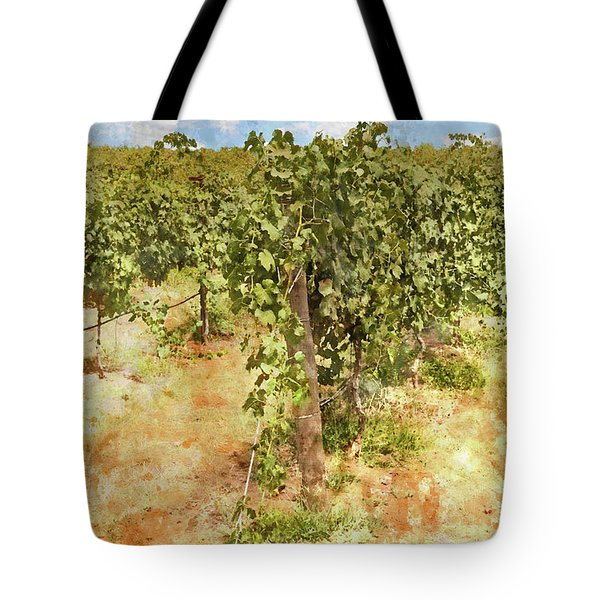 Napa Vineyard In The Spring Tote Bag