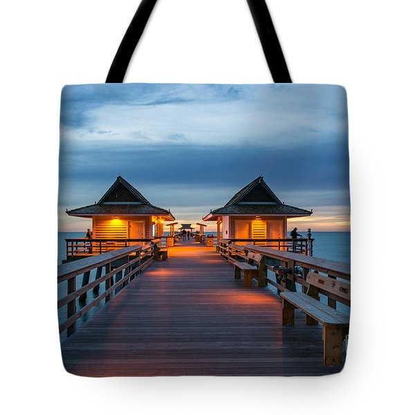 Naples Pier Tote Bag